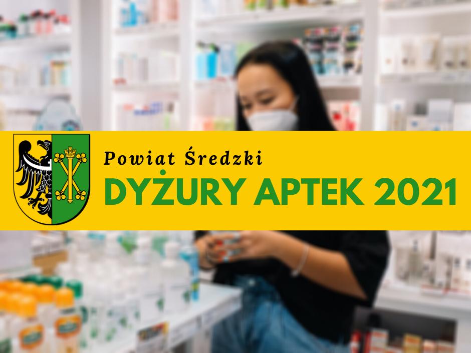 Ilustracja do informacji: Dyżury aptek w 2021 roku