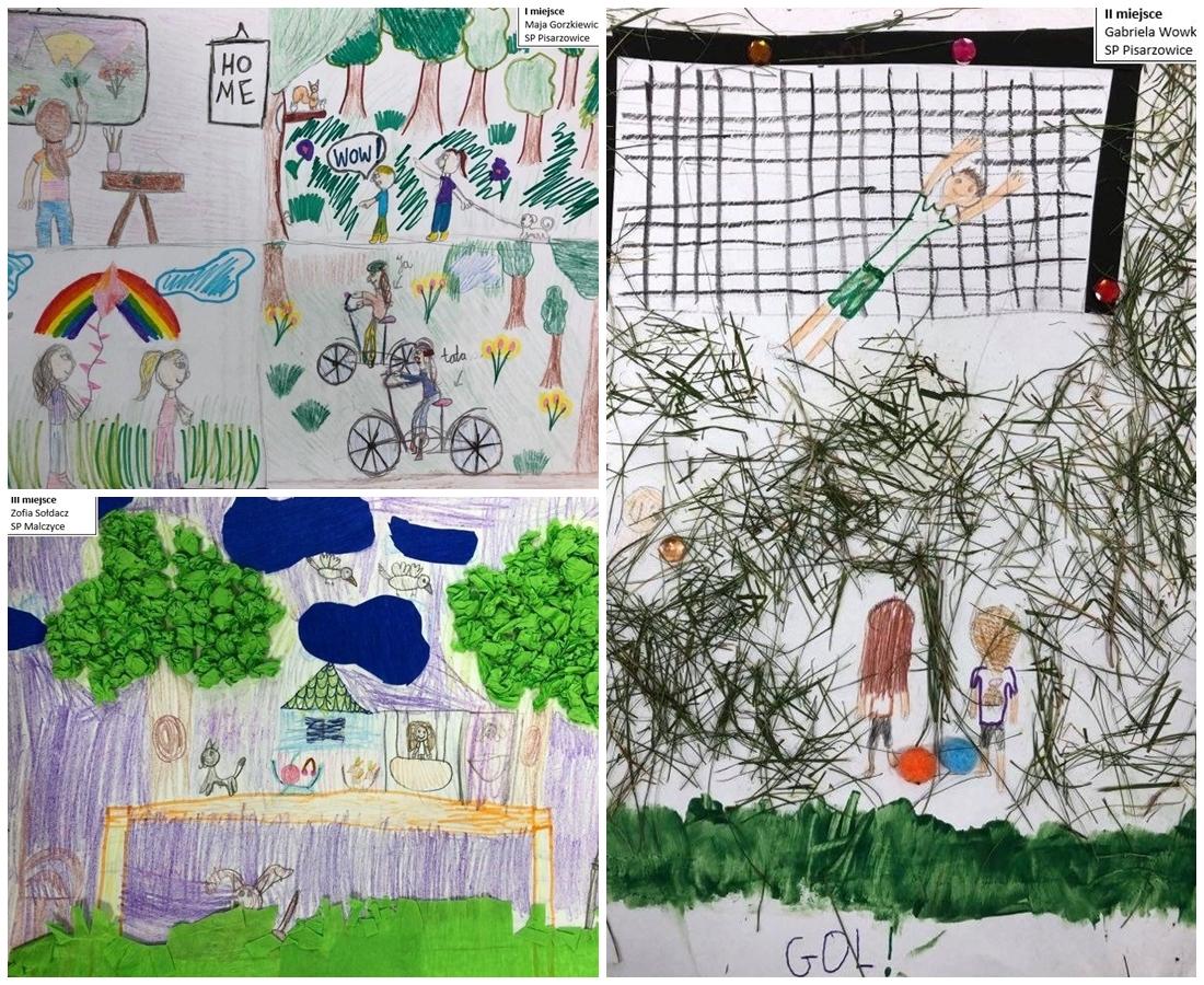 Ilustracja do informacji: Dzieci narysowały, jak dbać o dobre samopoczucie